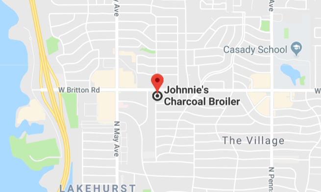 Johnnies Charcoal Broiler Map